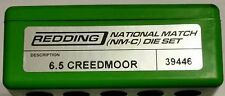 39446 REDDING 6.5MM CREEDMOOR NATIONAL MATCH DIE SET - BRAND NEW - FREE SHIP!