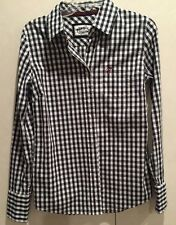 Guess Jeans Women's L/G Long Sleeve Button Down Checker Brand Embroidered Shirt