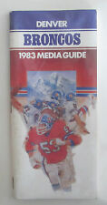 VINTAGE 1983 DENVER BRONCOS MEDIA GUIDE GREAT SHAPE & RARE!