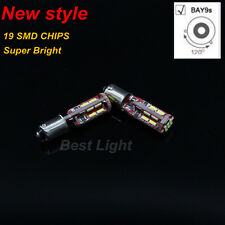 2x White 19SMD LED  120° BAY9s H21W Lights Indicator Turn Corner Bulbs