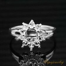 Ring Setting Sterling Silver Oval 5x6mm. size 7