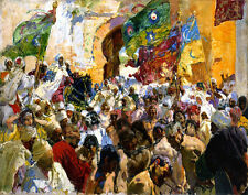 Bastida y Sorolla Joaquin Troops And Slaves At The Gates Of The City    #5011