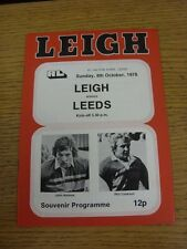 08/10/1978 Rugby League Programme: Leigh v Leeds