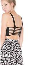 Womens Ladies Lace Top Bralet Bustier Eyelash Vest Strappy Crop Top Bra Bandeau