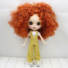 "12""Neo Blythe Doll Copper red Hair Matte Face from Factory Joint Body Nude Doll"