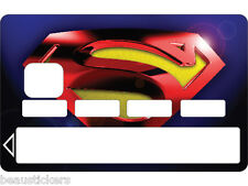 Stickers Autocollant Carte bancaire - Skin - CB  Superman  1121
