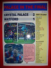 Crystal Palace 2 Watford 1 - 2016 FA Cup semi-final - souvenir print
