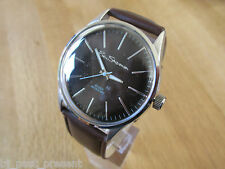 BRAND NEW MENS BEN SHERMAN WATCH ROUND BROWN DIAL FAUX LEATHER STRAP R930