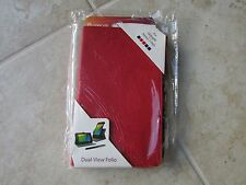 RooCase Google Nexus 7 FHD Leather DualView Folio Case BOOK Stand RED LOT of 10