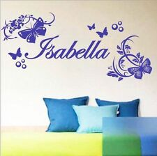 Personalized Your Name Butterfly Girls Bedroom Wall Stickers Decals Vinyl Decor