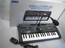 Korg Microsampler Sampling Keyboard w /Original Box, Mic, Power supply Used