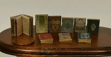 dolls house miniature books, Tudor style job lot of 9 books with print! 1:12th