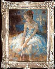 YOUNG BALLERINA Dollhouse Picture Miniature FRAMED Art  - MADE IN AMERICA