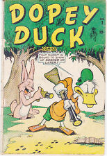 DOPEY DUCK #1 (Fall 1945, Marvel) GREAT TIMELY/MARVEL FUNNY ANIMAL