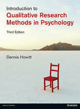Introduction to Qualitative Research Methods in Psychology, Howitt, Dr Dennis, G
