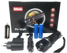 CREE LED Flashlight Torch with zoom & 2x 18650 rechargable batteries + Charger