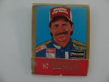 Nascar Winston Cup 25th Anniversary Dale Earnhardt 1987 Champion Matchbook VTG
