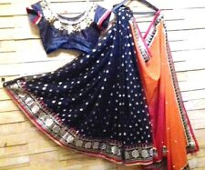 Traditional Designer Multicolour Embroidered Georgette sari with Stitched Blouse