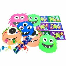 Set of 6 Monster Masks, Pencils, Finger Frights & Monster Puzzles - Halloween