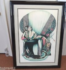 VINTAGE ESTATE #8/325 AS TIME GOES BY SIGNED MARY VICKERS ART DECO MIXED MEDIA!