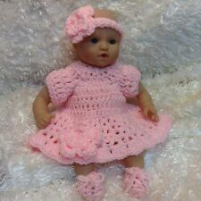 Handmade Doll Clothes for 12 inch dolls.Pink Dress set.Fits corolle,Jenna ect...