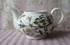 Vintage PORTMEIRION~Botanic Garden *Dog Rose* Floral Butterfly Bee Large Teapot