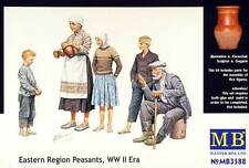 MB MASTERBOX Eastern Region peasants WWII era civiles 1:35 modelo-kit Kit