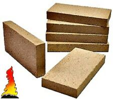 8 x Vermiculit Villager stove woodburner fire brick 230mm x 114mm x 25mm thick