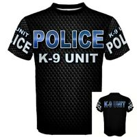 K-9 UNIT POLICE DOG canine cop officer Military gift German Shepherd T-SHIRT K9U