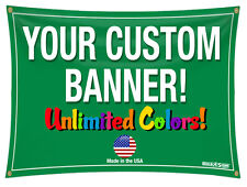 3'x 10' Full Color Custom Banner 13oz Vinyl 3x10