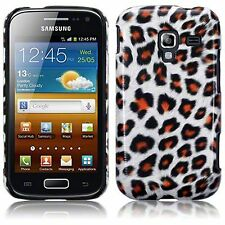 Samsung Galaxy Ace 2 i8160 Slim Leopard PU Leather Hard Back Case Cover