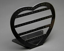 1 x BLACK ACRYLIC HEART DROP STUD EARRING JEWELLERY JEWELRY DISPLAY STAND RACK