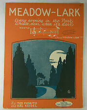 Vintage SHEET MUSIC 1926 MEADOW LARK In the Park by Ted Fiorito & Hal Keidel