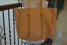Sandra Roberts Large Tan Faux Leather Tote Bag - NWT