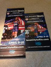 Jordan Burroughs Wrestling Banner! USA Olympic Trials  amateur freestyle poster