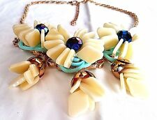 UNIQUE New Runway Designer Resin Colorful Spring Bouquet Chocker NECKLACE