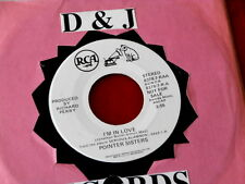 POINTER SISTERS~ I'M IN LOVE~ RARE PROMO~ BROWN WAX~ RCA~ 8378~~ SOUL 45