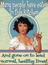 VINTAGE STYLE METAL WALL SIGN PLAQUE FUNNY KITCHEN PICTURE BAD COOK COOKING JOKE