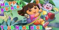 Birthday banner Personalized 4ft x 2 ft Dora The Explorer