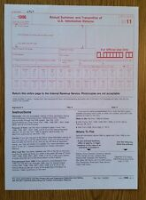 2011 IRS Tax Form 1096 Annual Summary and Transmittal (for 1099's to IRS)