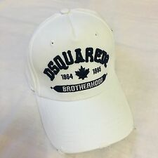 ****2017 NEW White  Dsquared2  BROTHERHOOD  Baseball Cap****Bargain!