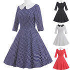 NEW Women Vintage Retro Style 50s 60s Evening Pinup Swing Party Dress