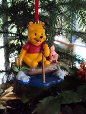 "DISNEY ""WINNIE THE POOH & PIGLET"" SKETCHBOOK CHRISTMAS HANGING ORNAMENT"" NWT"