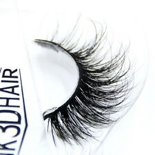 1Pairs New Soft Design 3D 100% Real Mink False Eyelashes Cross Messy Eye Lashes