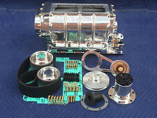 COMPLETE SMALL BLOCK CHEVY 671 BLOWER SUPERCHARGER KIT GASSER HOT ROD RAT SCTA