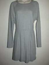 MADEWELL GRAY DRESS LONG SLEEVE SZ: XL UP/ZIPPER TWO PLEATED FRONT