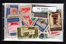 Maroc Espagnol - Spanish Morocco 50 timbres différents