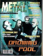 METAL SHOCK N°352/2002 DROWING POOL DAEMONIA NICKELBACK VIRGIN STEEL