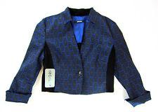 Apriori Blazer 38 kurz Bolero Jacke schwarz blau Polyester neu mit Etikett