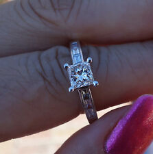 1.35ct .85t ctr H/Si1 Diamond Engagment ring 14k WG